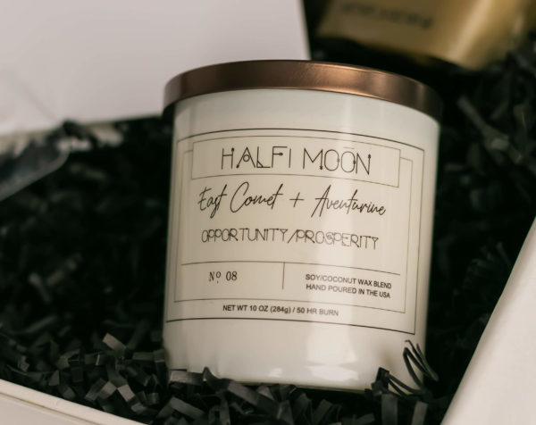 The Visionary Half-Moon Candle